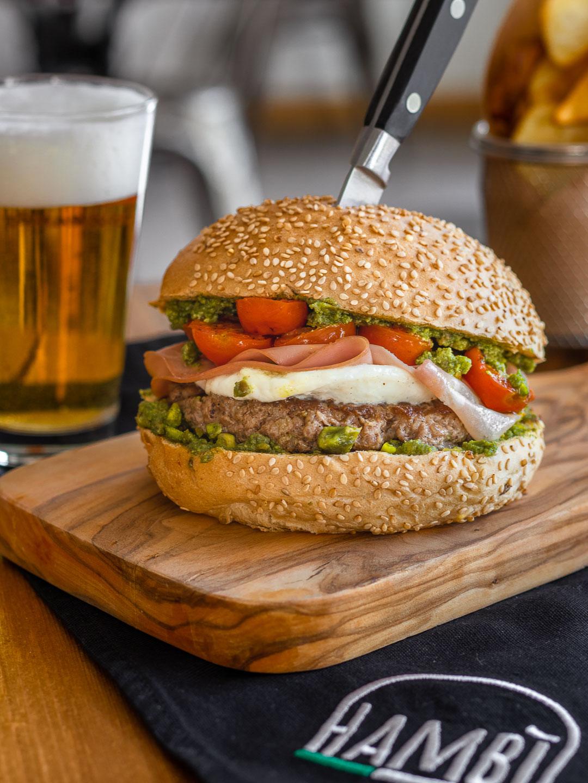 Mortadella-Hamburger